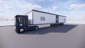 Ardmac Truck for transporting Medipod modular building