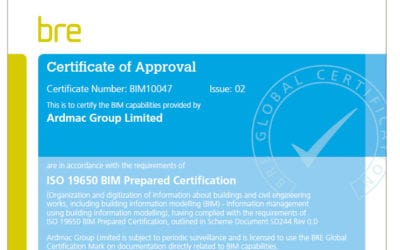 Ardmac receives ISO19650 BIM Prepared Certification