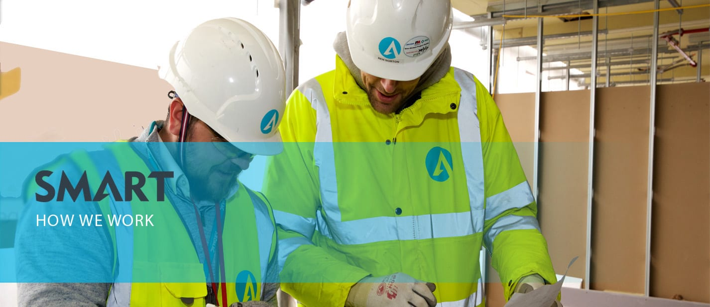 ardmac - how we work - smart construction solutions - Two construction workers