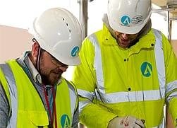 Workmen employing Smart Build at Ardmac